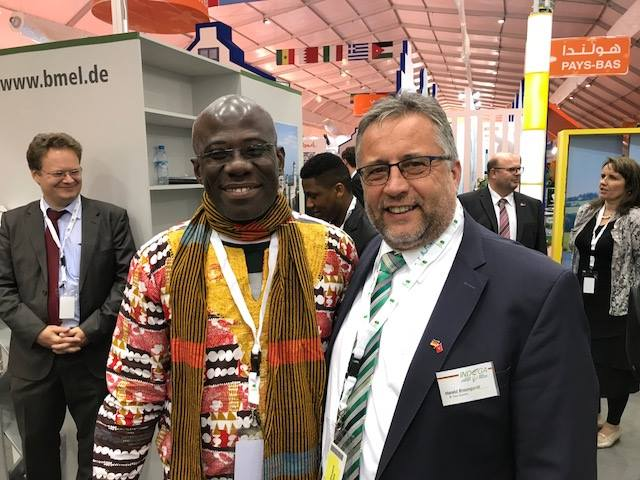 A delegation from Côte d'Ivoire (Ivory Coast) payed a visit to STEP Systems's stand