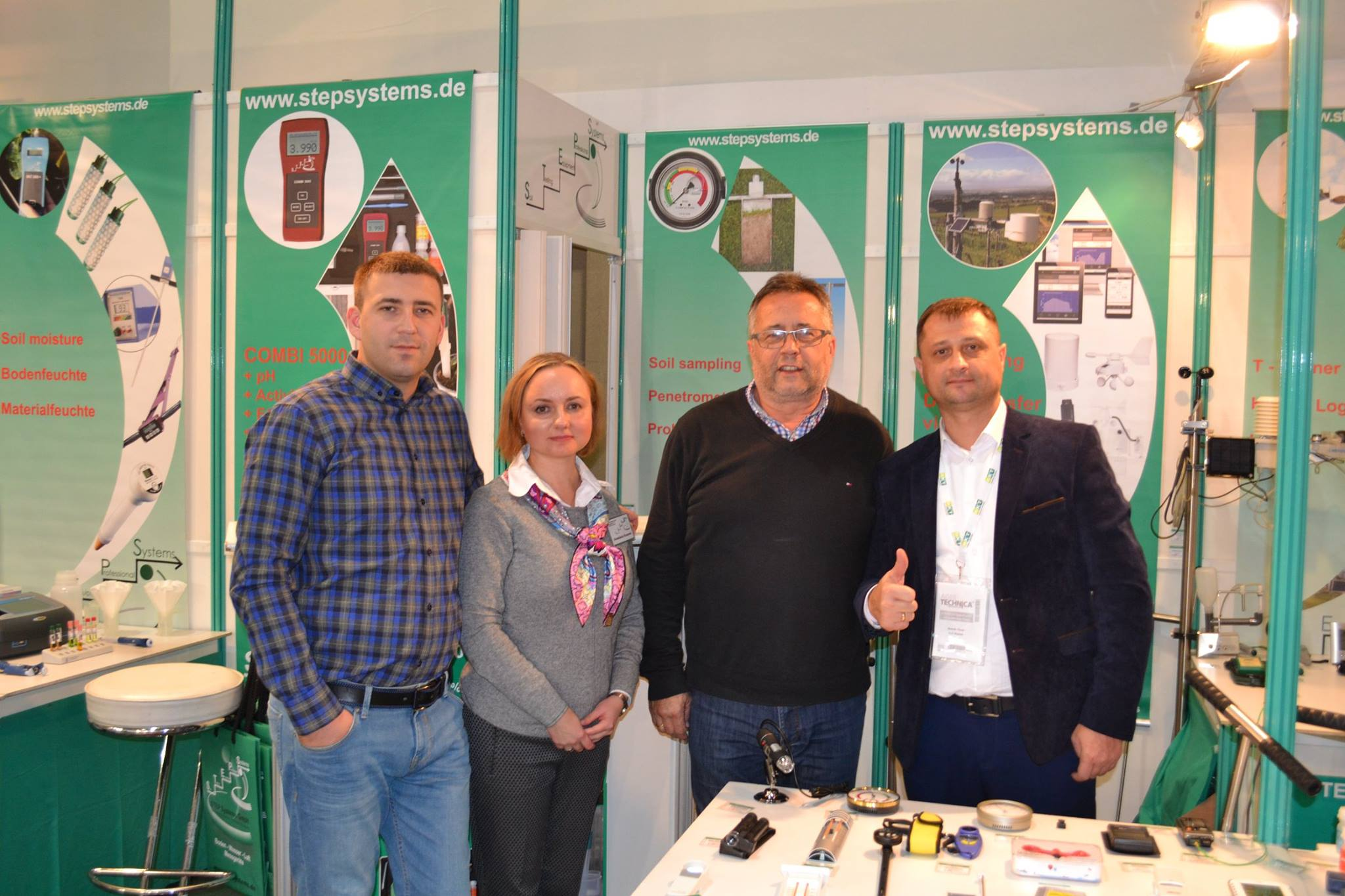 Ms. Konarek and Mr. Braungardt from STEP Systems with our partner in Ukraine, the company SHYBAS